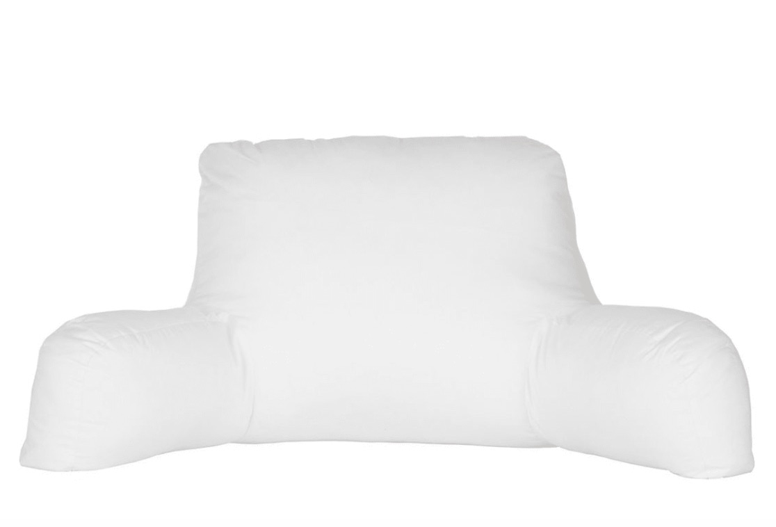 Soft Reading /& Bed Rest Pillow with Higher Support Arm Large Adult Backrest Lounge Cushion with Arms Back Support for Sitting Up in Bed,Blue